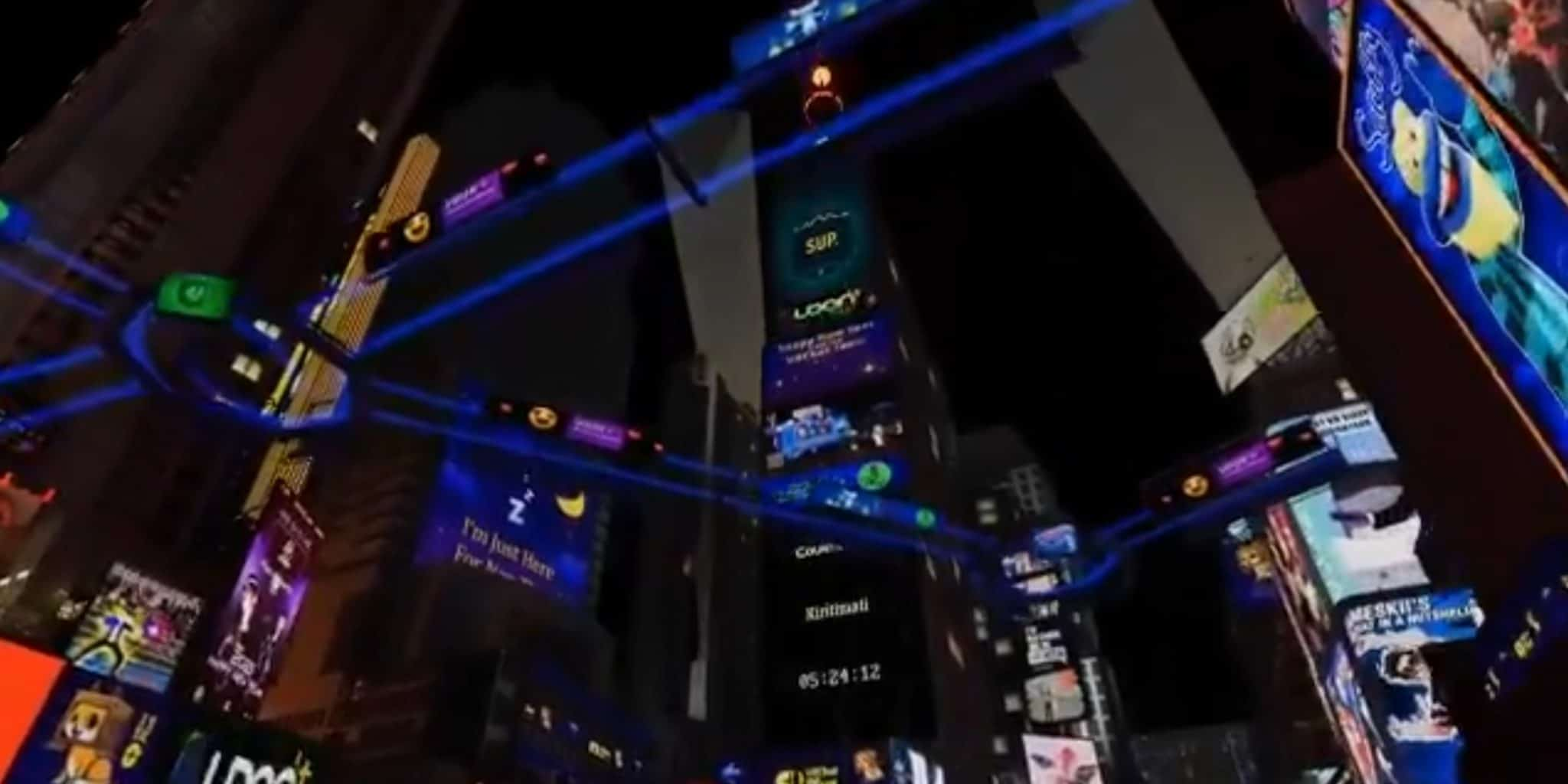 vrchat new years party virtual times square