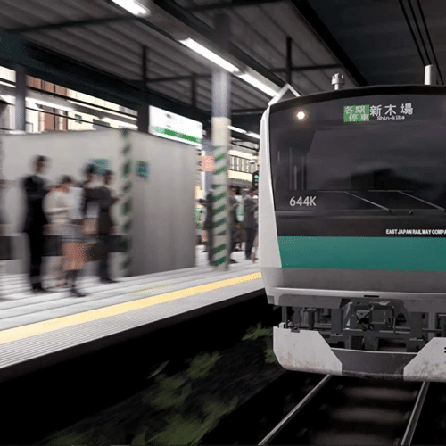 Go by train yamanote line