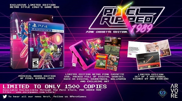 pixel ripped 1989 Pink Cassette limited edition