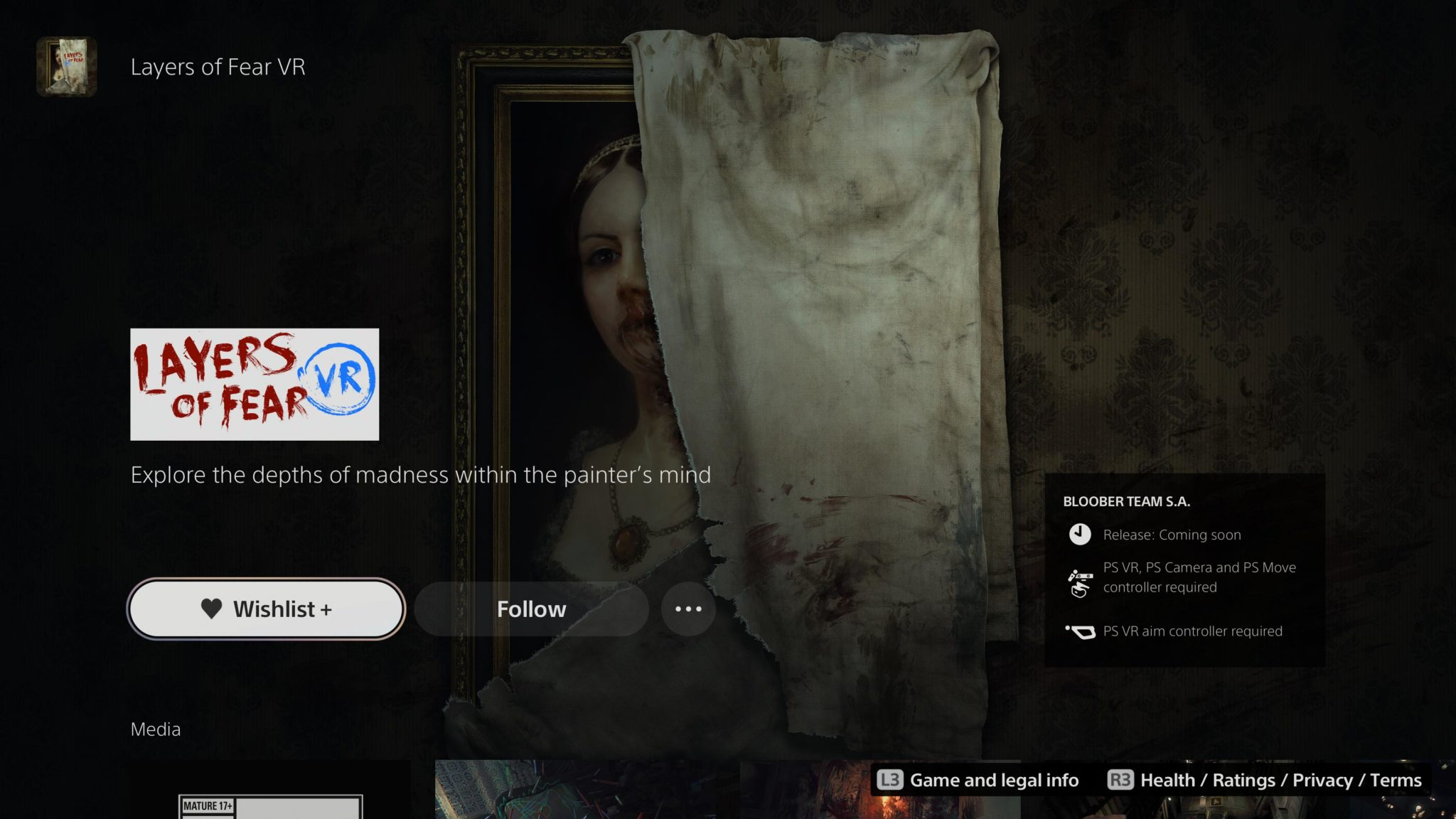 layers of fear psvr listing