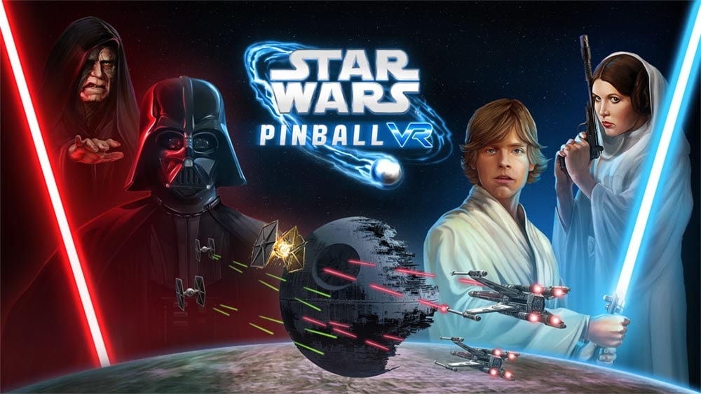 star wars pinball vr key art